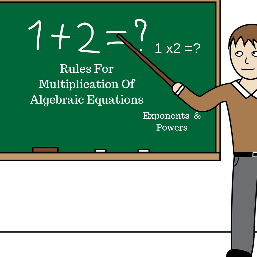 Rules for multiplication of algebraic equations