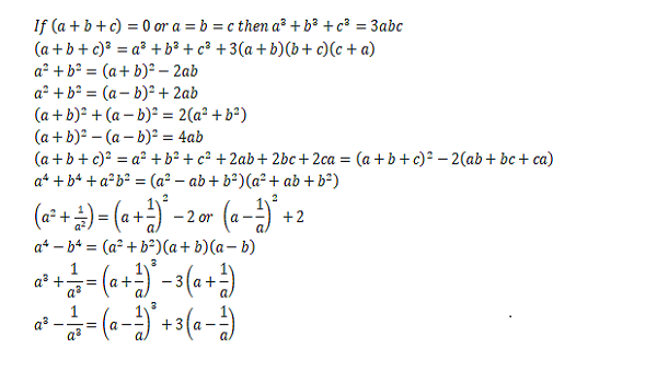 algebraic identity